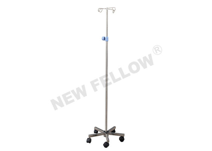 Stainless Steel Height Adjustable Portable IV Stand For First Aid Center